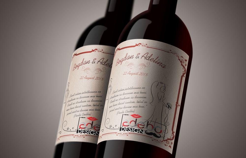 Etichete sticle Vin nunta