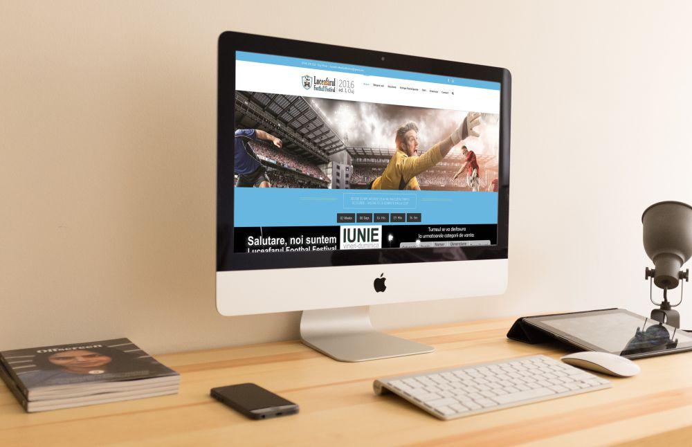 Website Luceafarul Football Festival Cluj