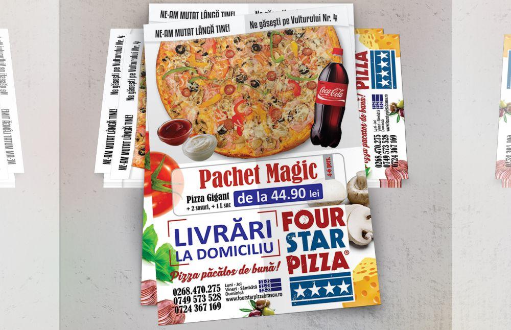Flyer A6 - Four Star Pizza Brasov