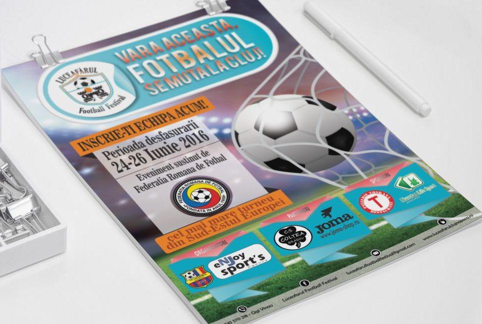 Flyer Prezentare - Campionat Fotbal Luceafarul Football Festival Cluj