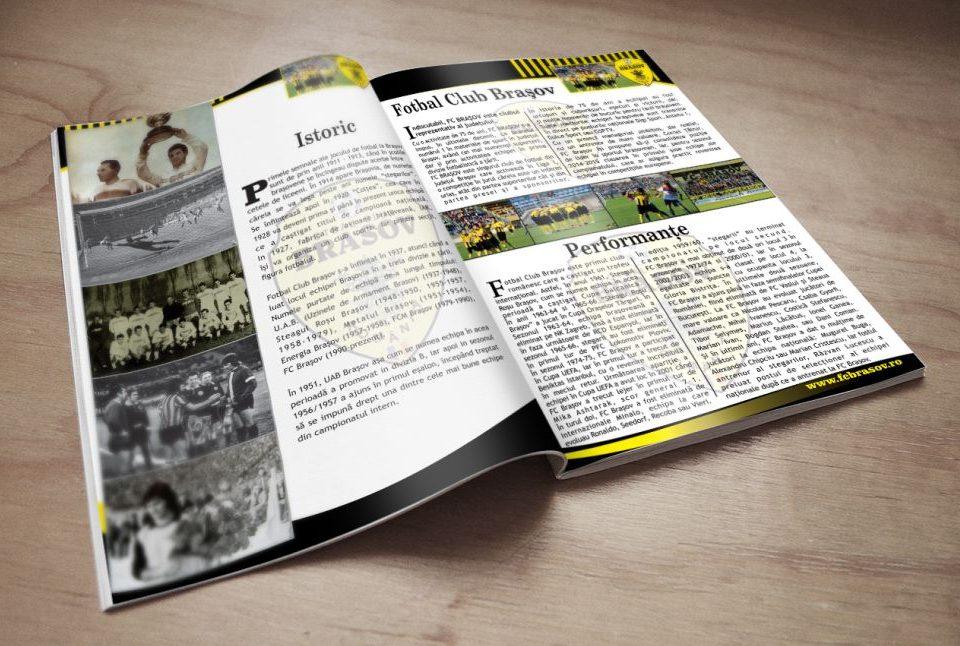 Grafica Brosura Prezentare echipa Fotbal Fc Brasov