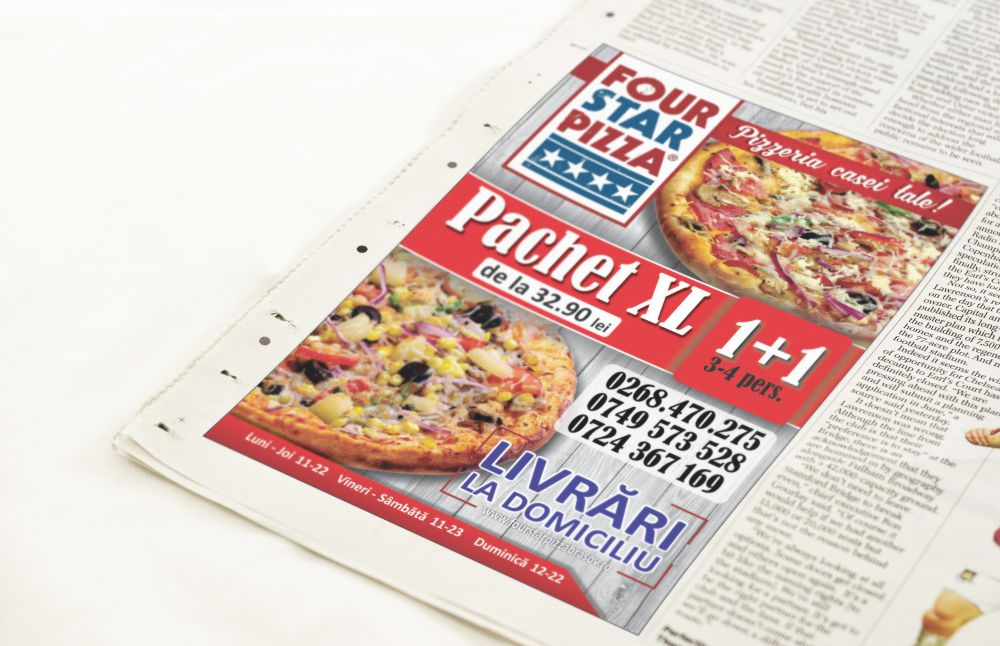 Flyer - Four Star Pizza Brasov