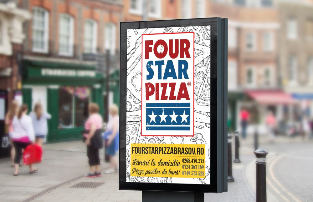 Vizual Four Star Pizza