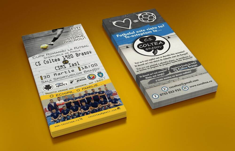 Grafica flyer DL fotbal