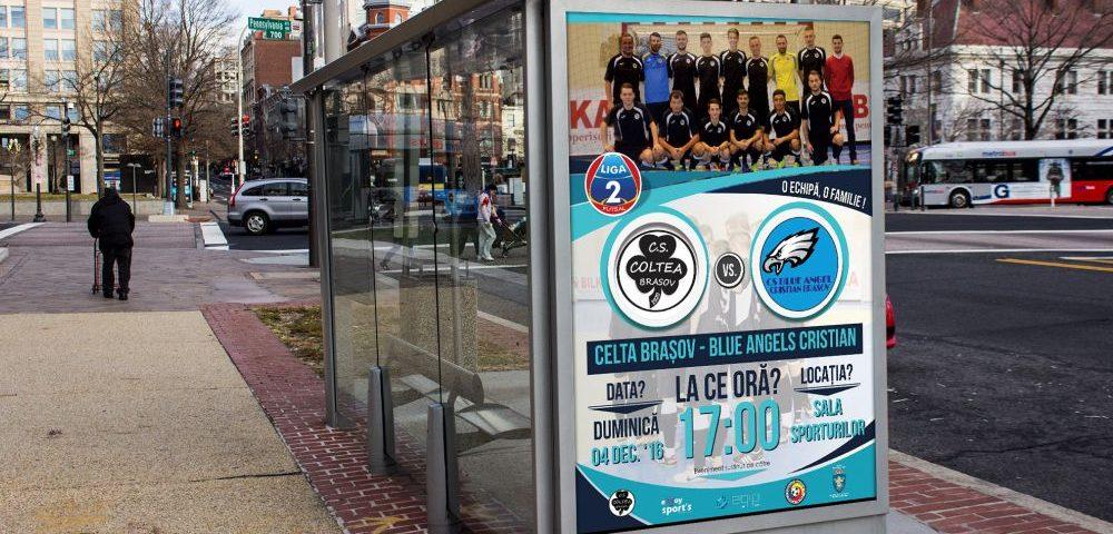 Afis Promovare Futsal - Celta Brasov