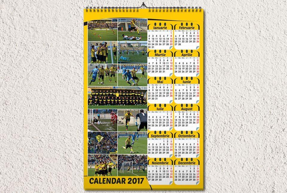 Calendar de Perete 12 luni pe o fila - Fc Brasov