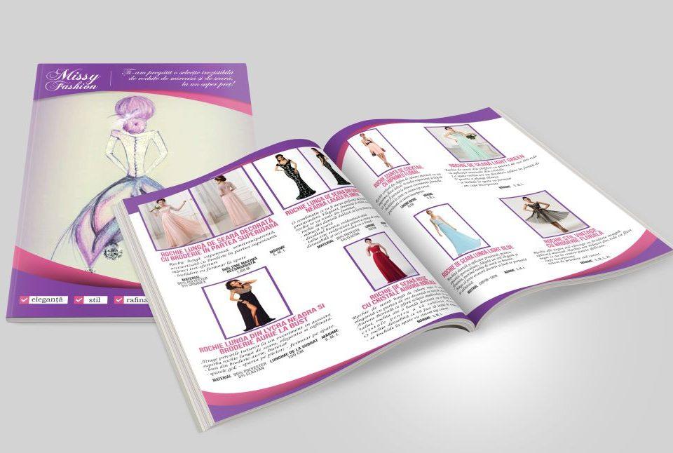 Grafica Brosura Prezentare Rochii de Seara - Rochii de mireasa - Missy Fashion