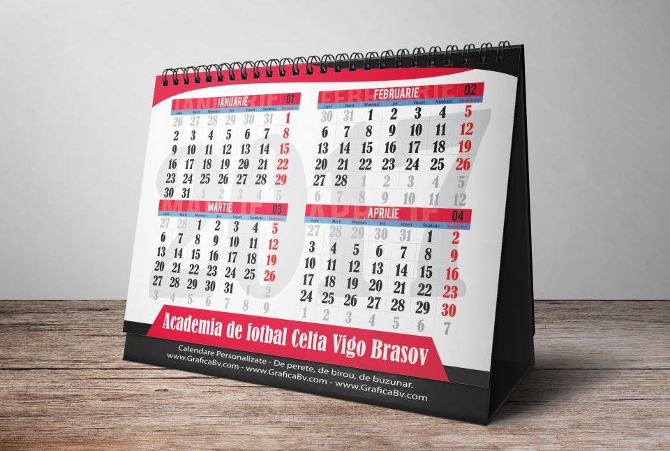 Grafica Calendar de birou - Celta Vigo Brasov