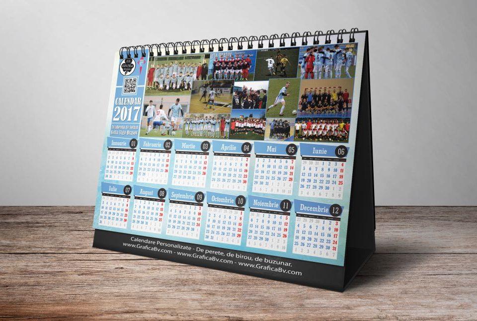 Grafica Calendar de birou - Echipa Fotbal Celta Vigo Brasov