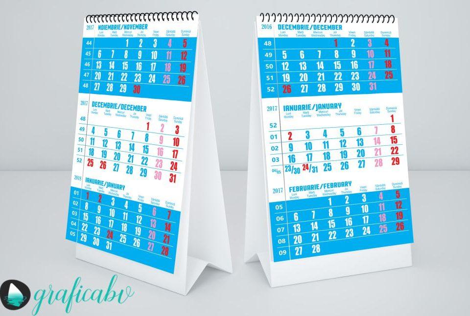 Grafica - Design Calendar Perete Triptic