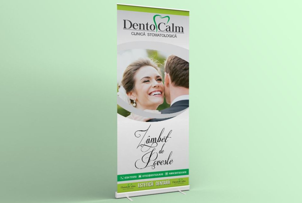 Grafica - Design Roll Up Clinica Stomatologie Dentocalm
