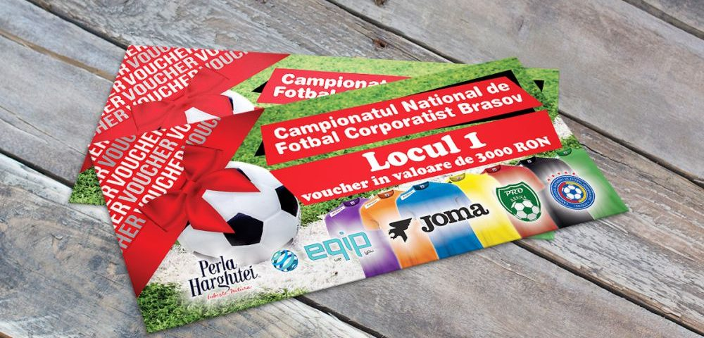 Grafica - Design Voucher Campionatul National de Fotbal Corporatist