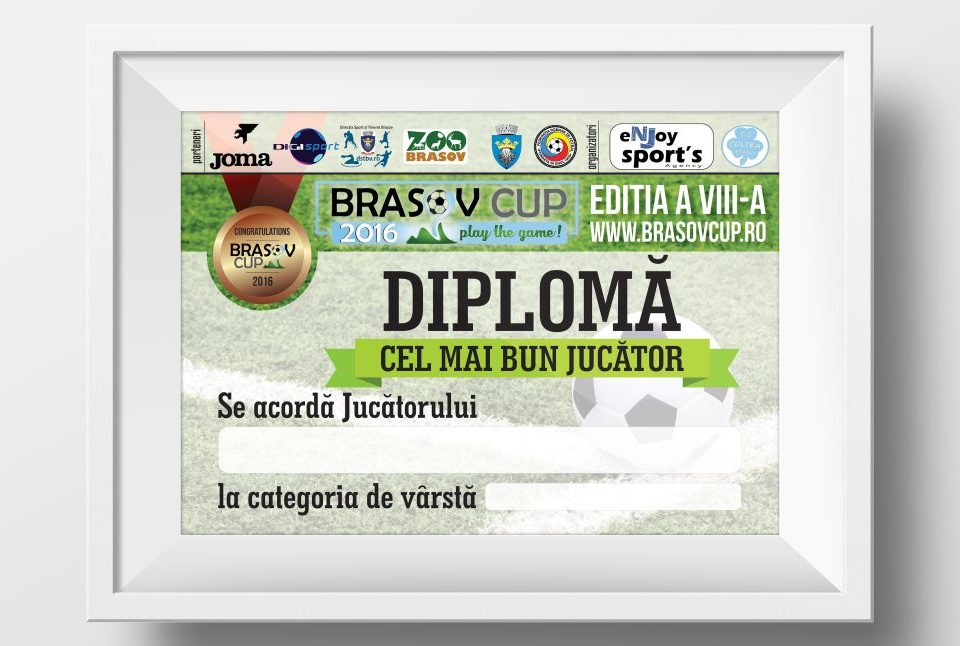 Grafica Diplome Brasov Cup - Turneu Fotbal