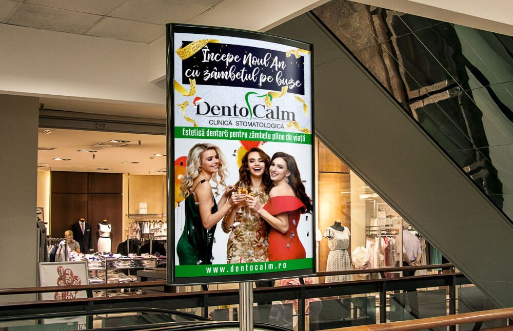 Grafica Afis Indoor Dentocalm