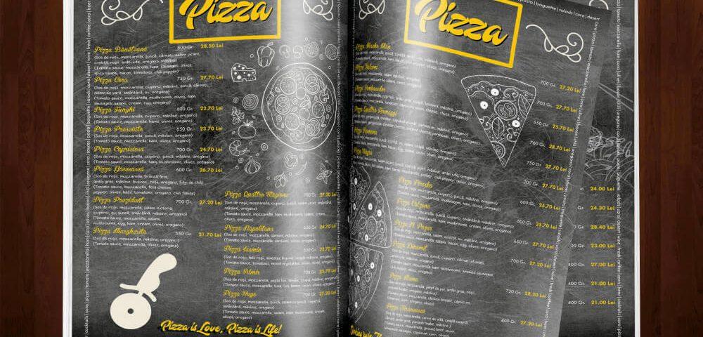 Grafica Meniu Pizza Cora