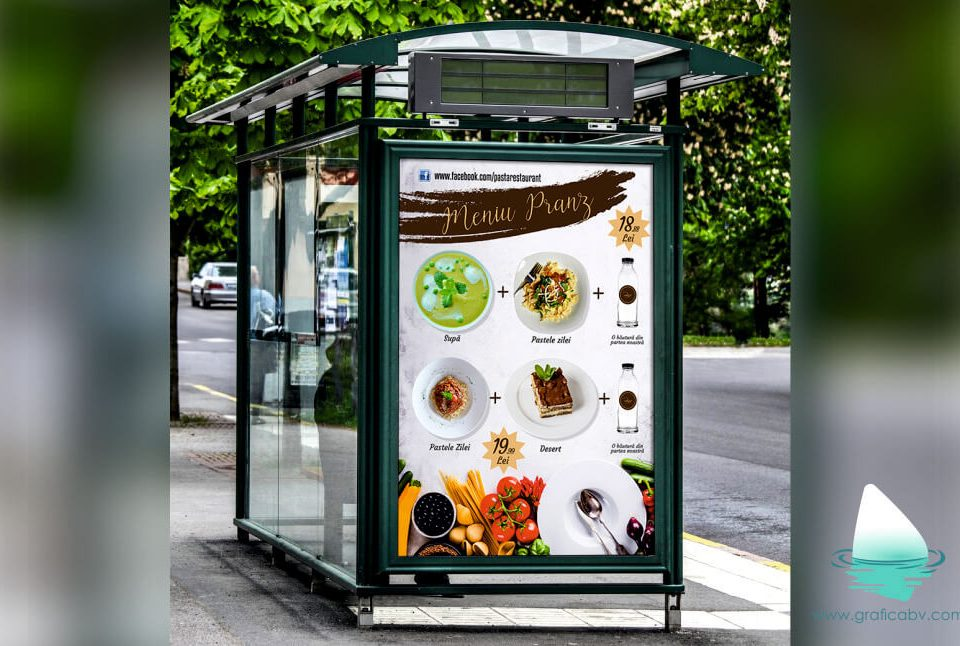 Design Afis Oferta Meniu Pranz