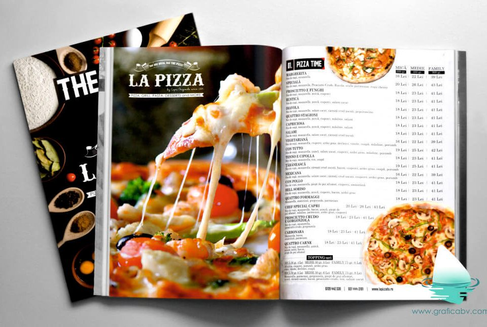 Design Meniu Pizza Restaurant