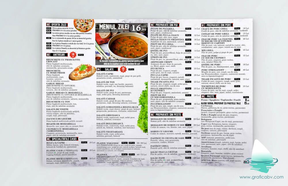 Design pliant bifold - La Pizza Restaurant Bucuresti (3)