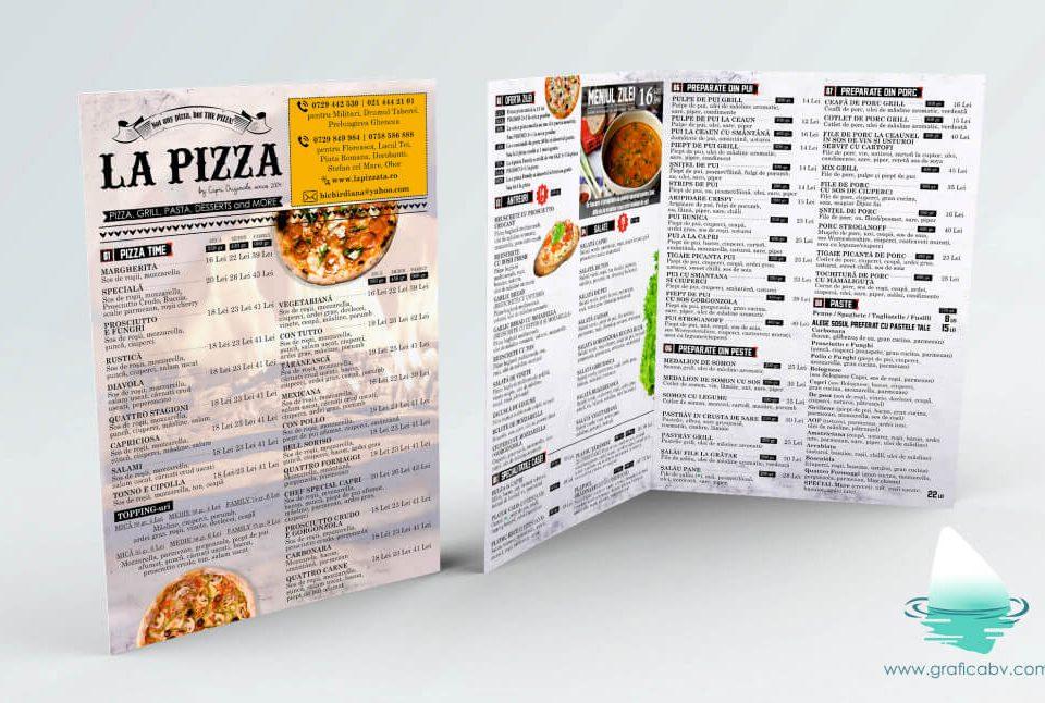 Design pliant bifold Pizzerie