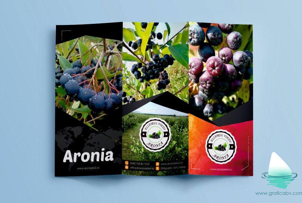 Design pliant trifold Aronia