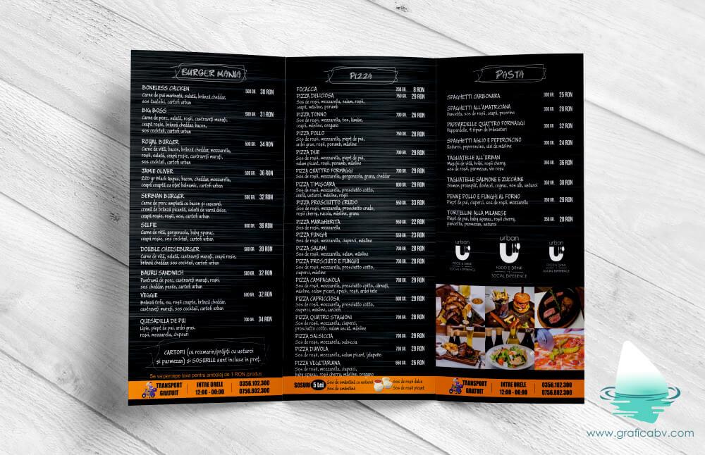 Design pliant trifold Urban Restaurant (1)