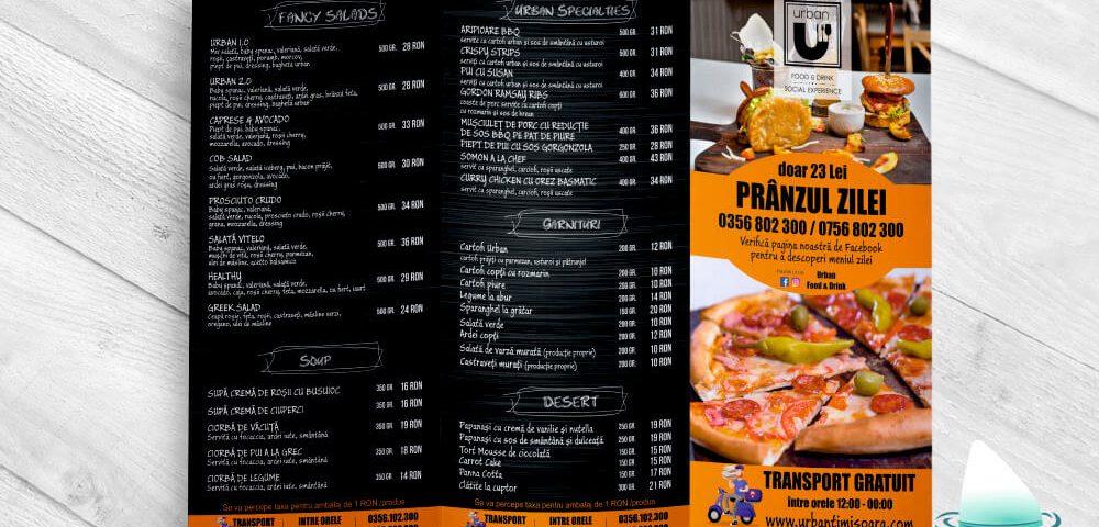 Pliant trifold Urban Restaurant