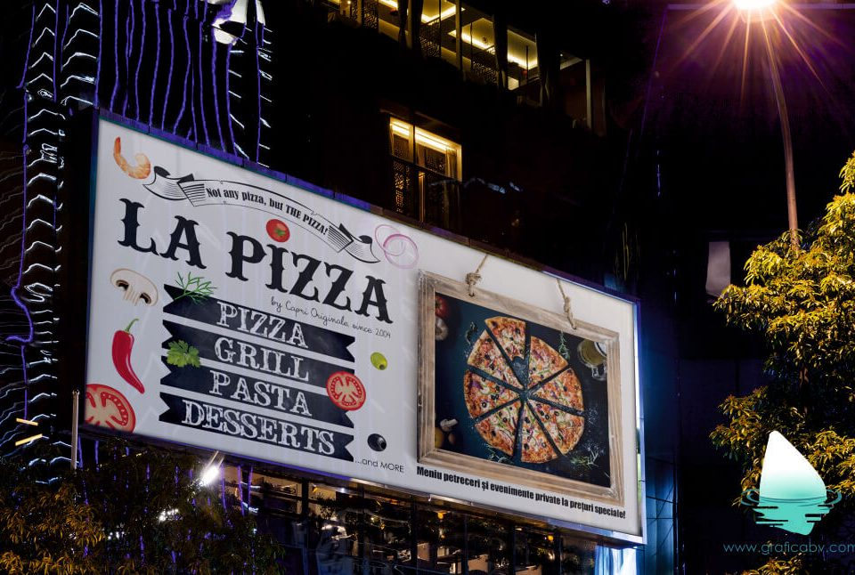 Grafica Banner Pizza Bucuresti