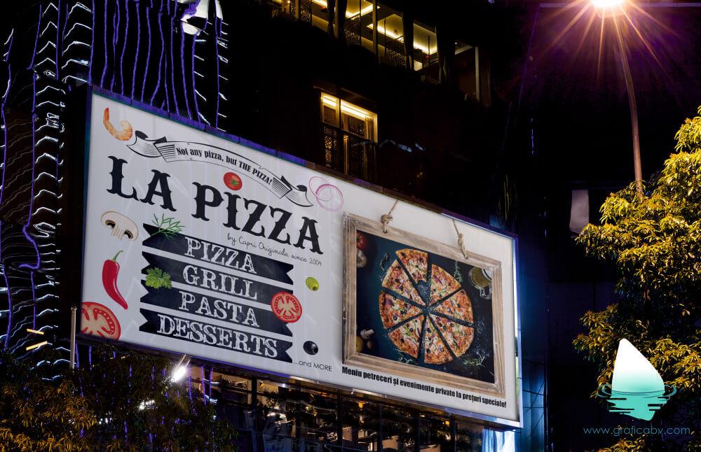 Grafica Banner Pizza Bucuresti