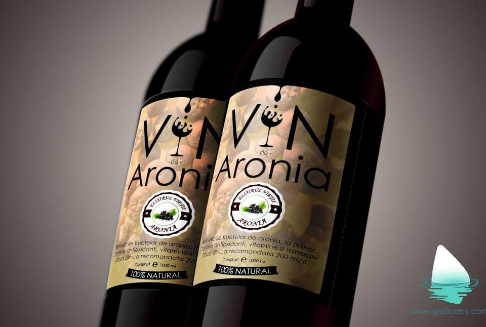 Grafica Eticheta vin Aronia