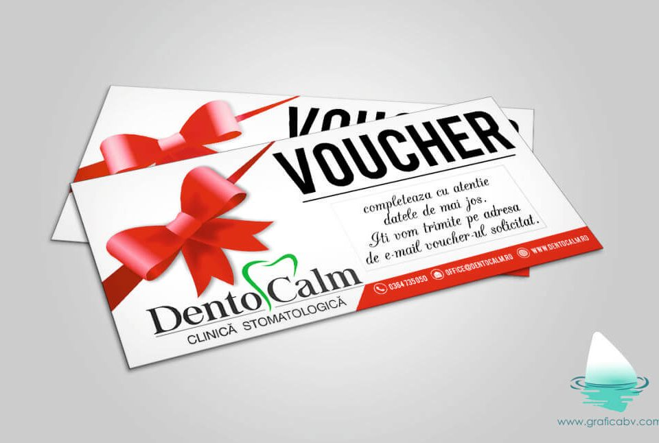 Grafica Voucher Dentocalm Cluj
