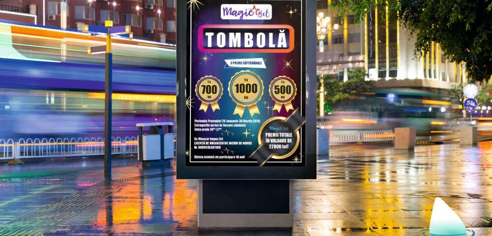 Grafica afis tombola MagicBet
