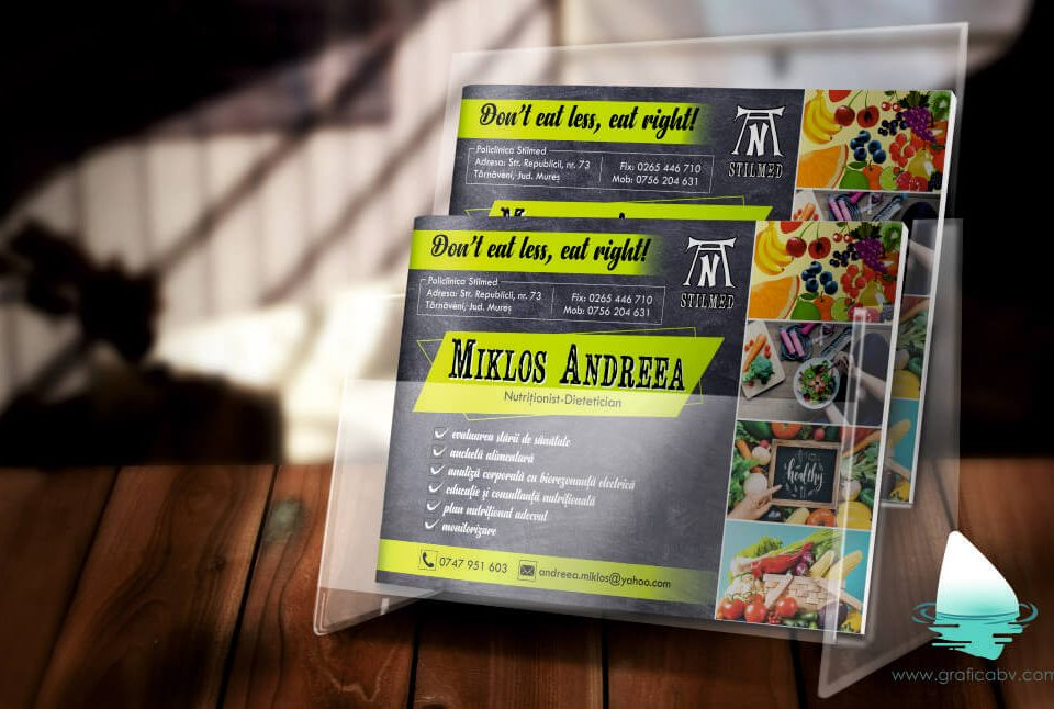 Grafica flyer Nutritionist Mures