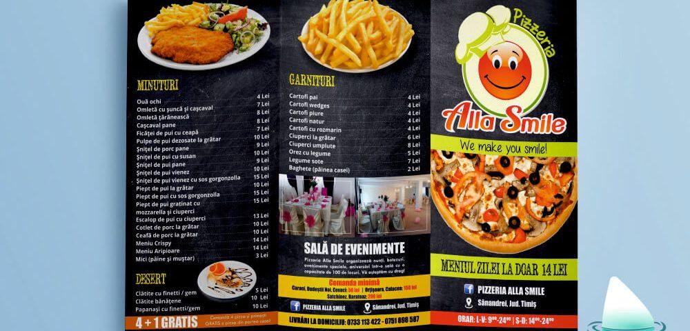 Grafica pliant Pizzeria Alla Smile (2)