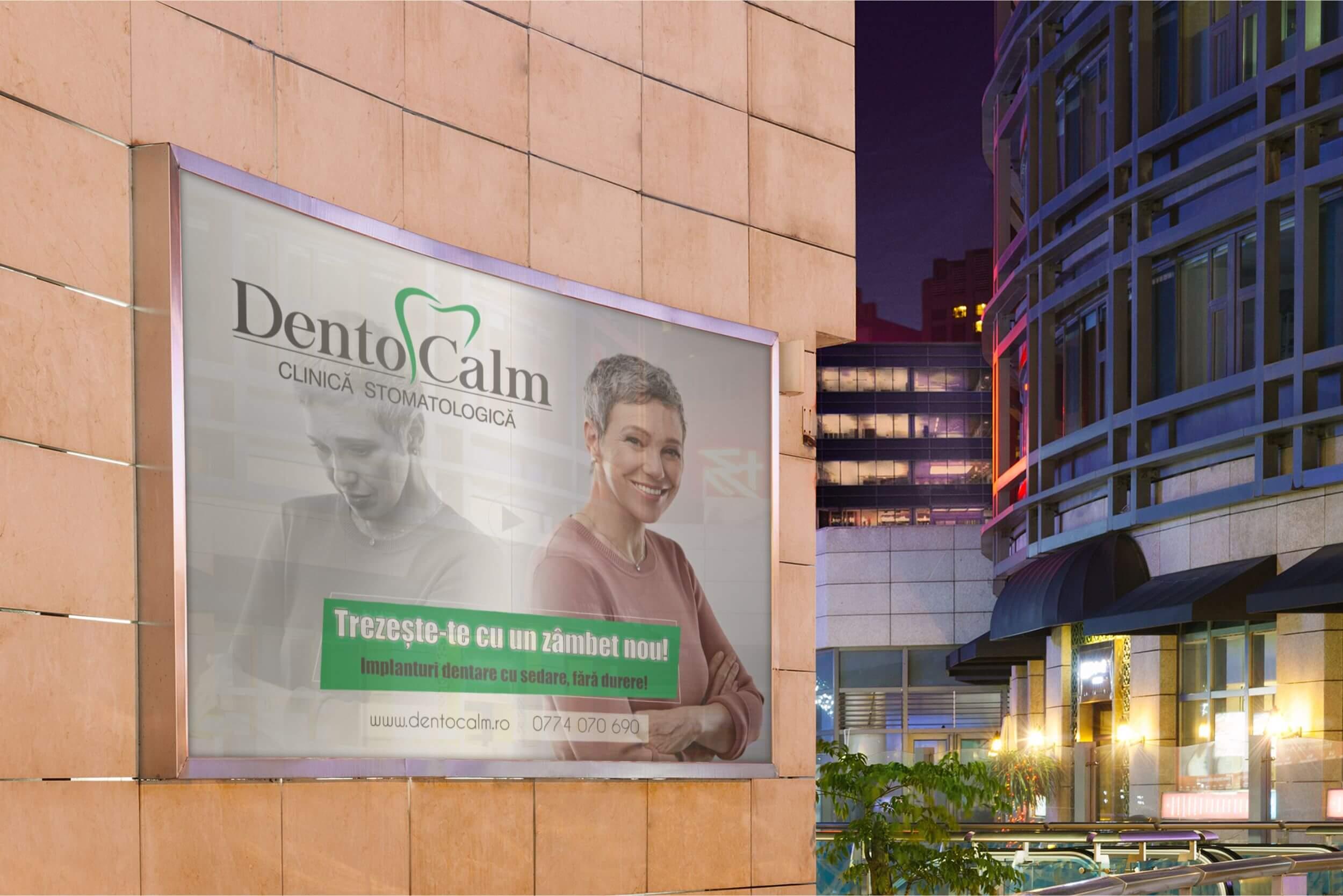 Grafica banner stradal Dentocalm