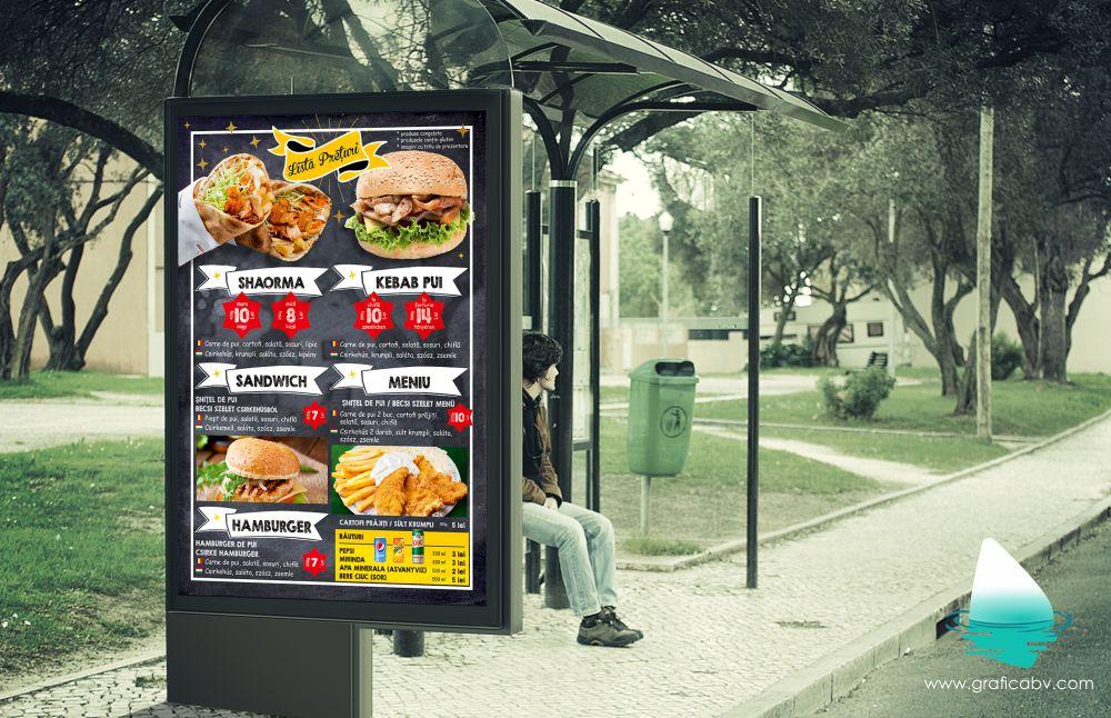 Grafica afis Shaorma & Kebab - Fast Food