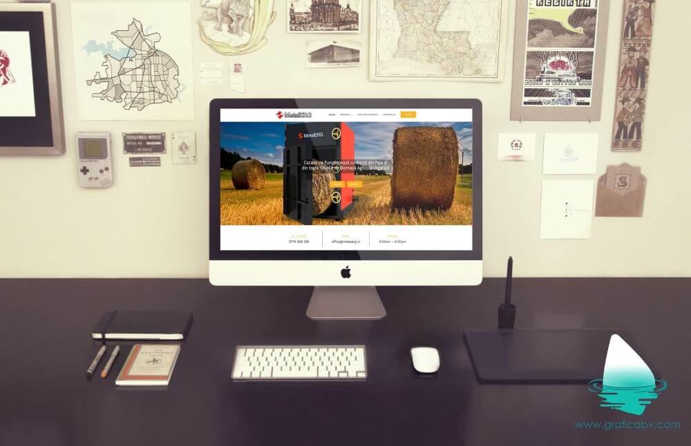 Realizare website Metalerg Romania