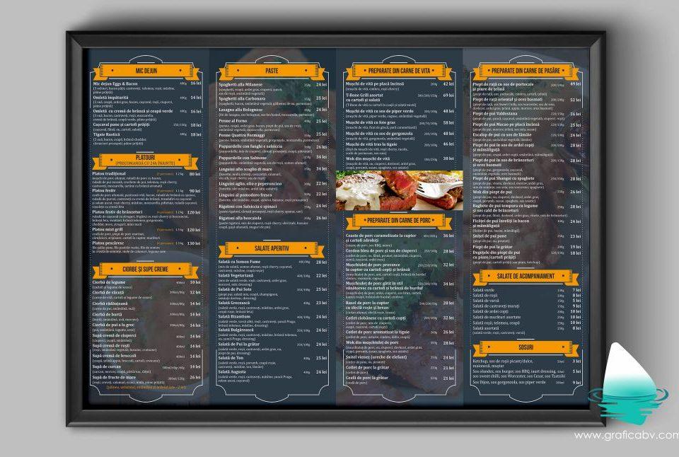 Design meniu online restaurant